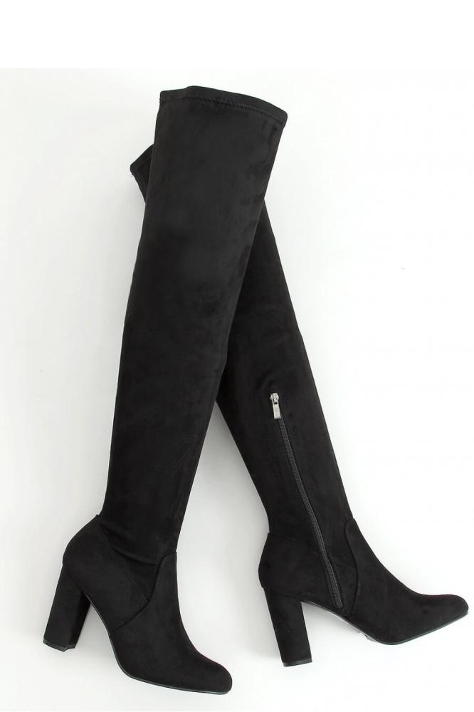 Cizme peste genunchi cu toc Model 157977 Inello negru