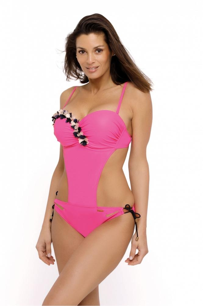 Costum de baie intreg model 129277 Marko roz
