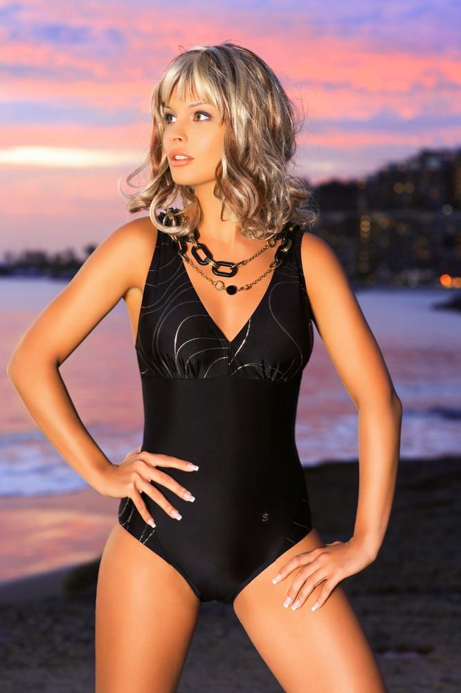 Costum de baie intreg model 146210 Ewlon negru