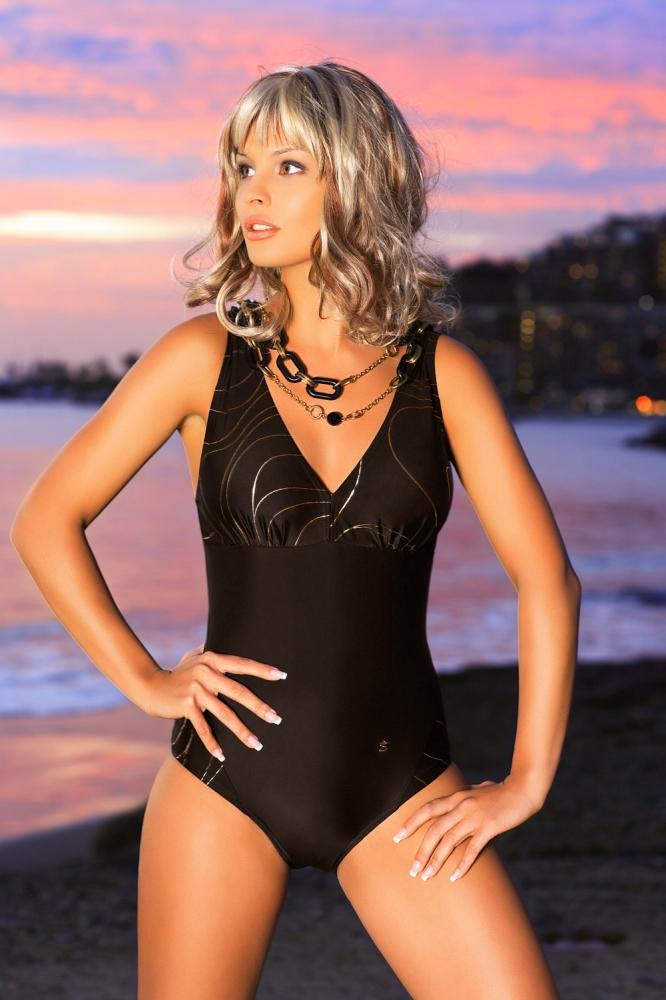 Costum de baie intreg model 146243 Ewlon maro