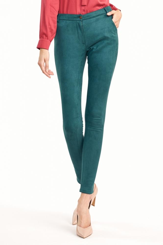Dopasowane zielone spodnie SD60 Green - Nife verde