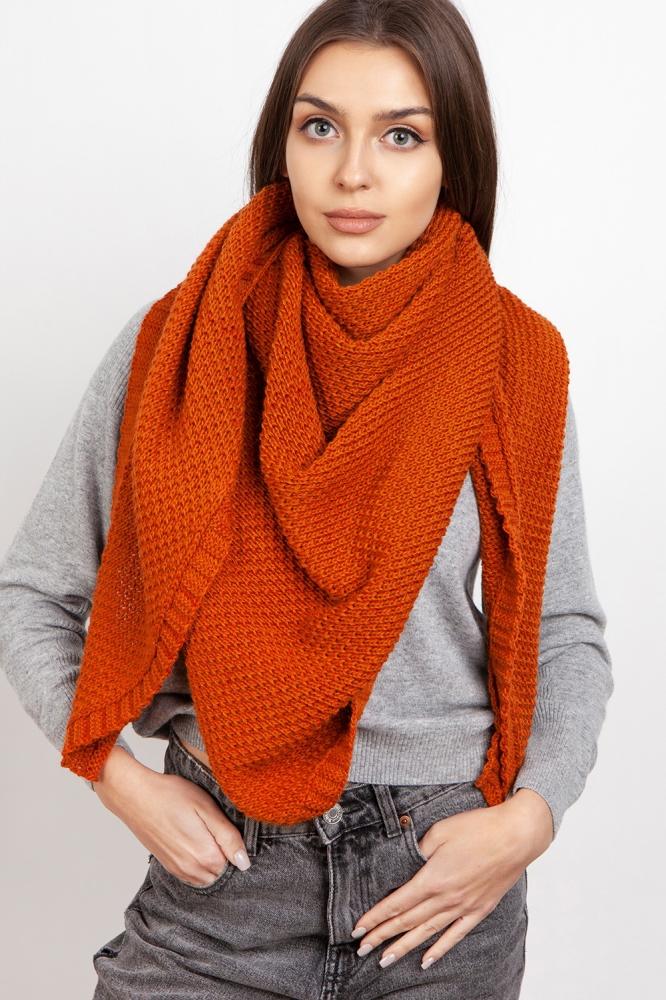 Fular tricotat Model 151070 Lanti portocaliu