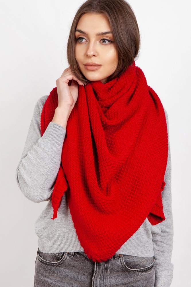 Fular tricotat Model 151073 Lanti rosu