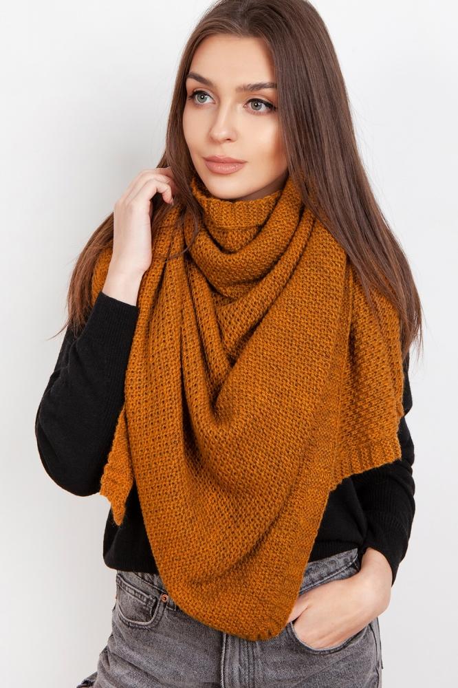 Fular tricotat Model 151074 Lanti galben