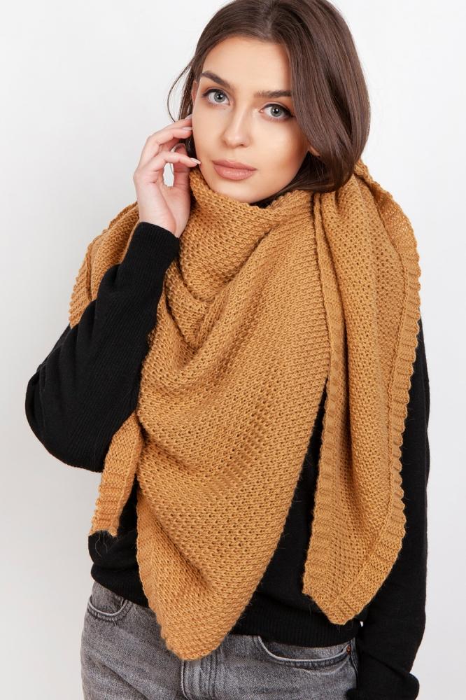 Fular tricotat Model 151076 Lanti bej