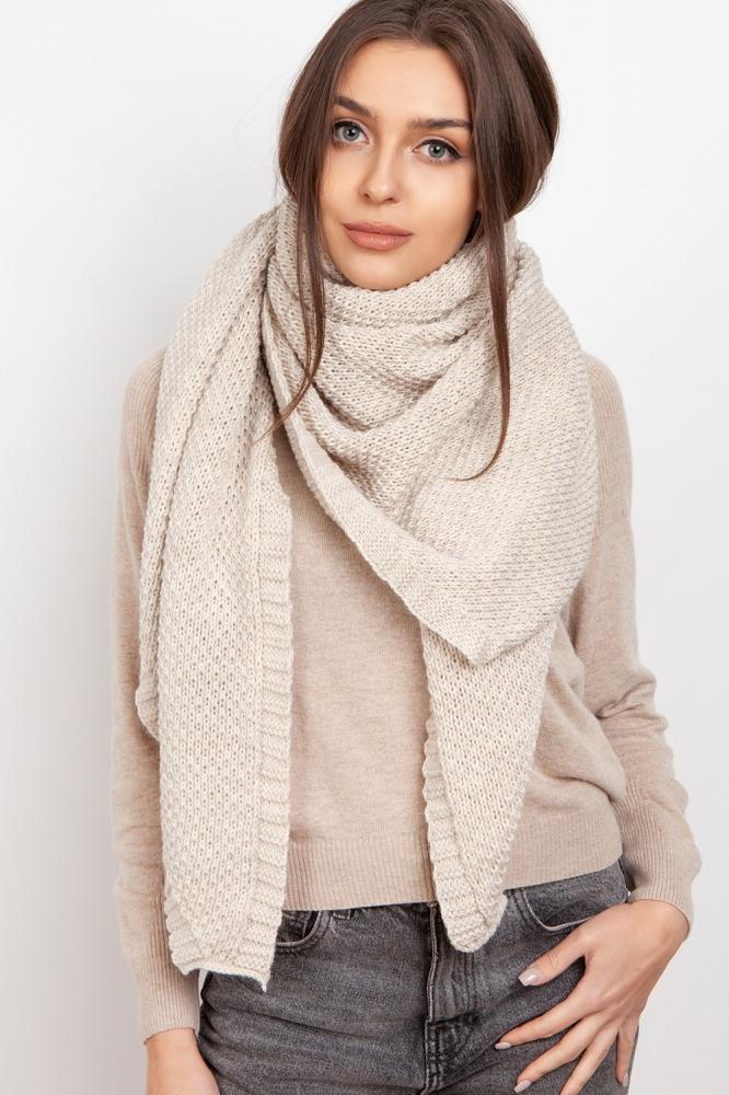 Fular tricotat Model 151077 Lanti bej