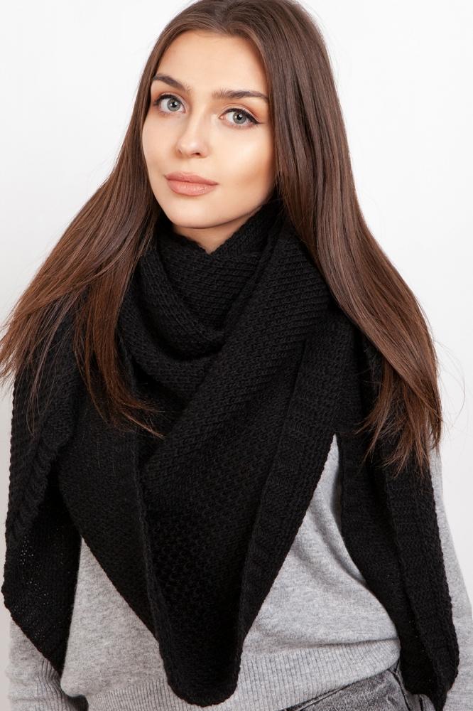 Fular tricotat Model 151078 Lanti negru