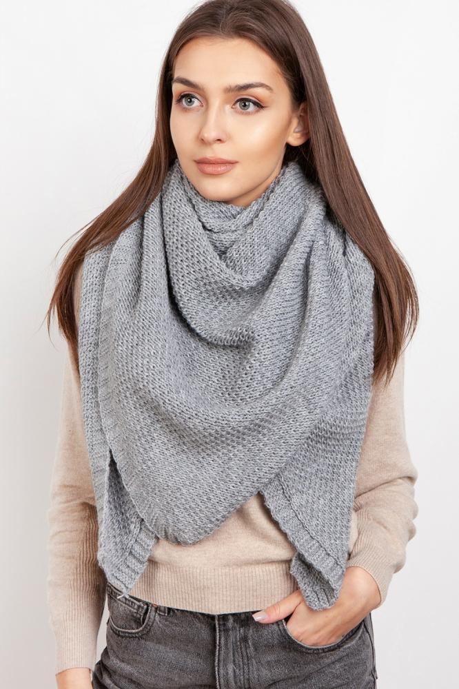 Fular tricotat Model 151079 Lanti gri