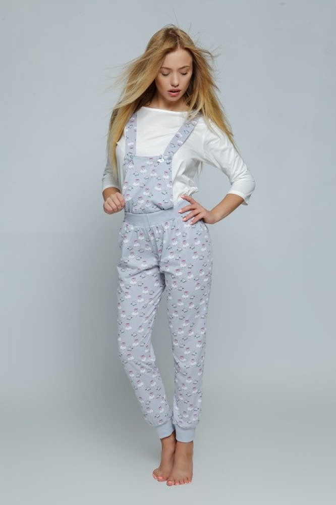 Pijamale Model Lovely White/Grey - Sensis gri