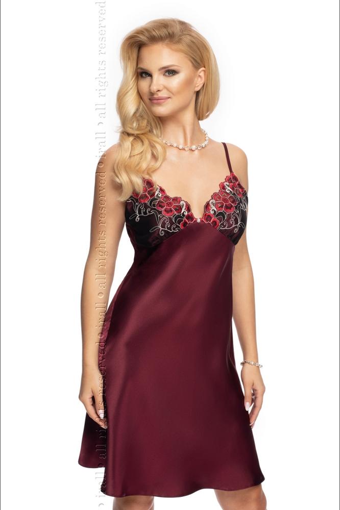 Compleu satinat Model Elodie Plum - Irall violet