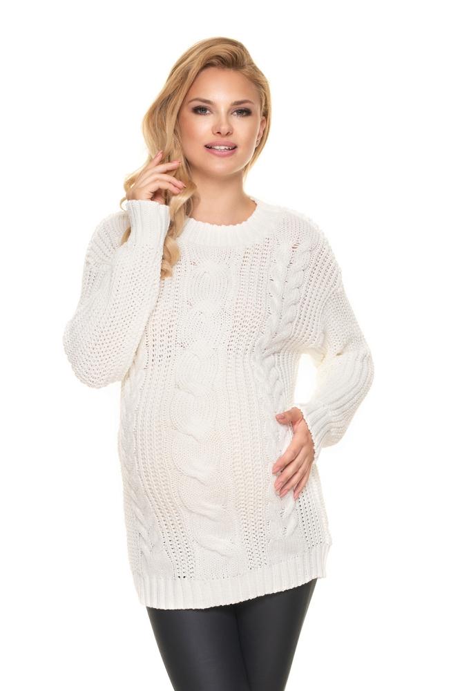 Maternitate pulover model 157830 PeeKaBoo bej