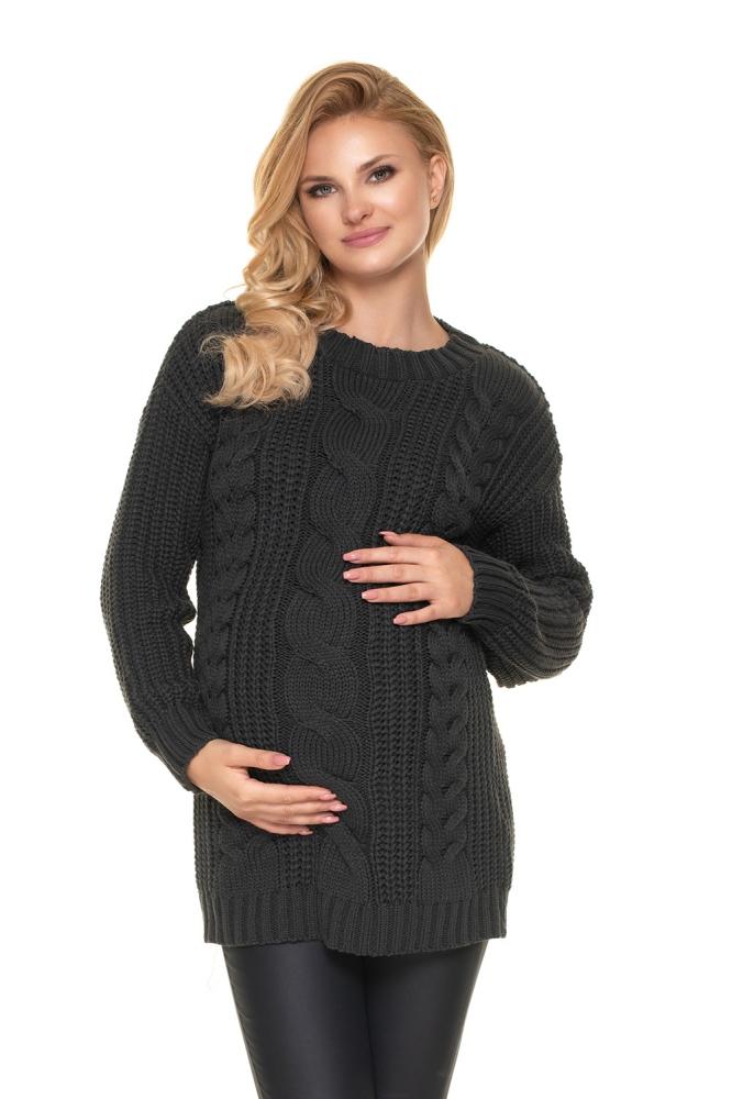 Maternitate pulover model 157832 PeeKaBoo gri