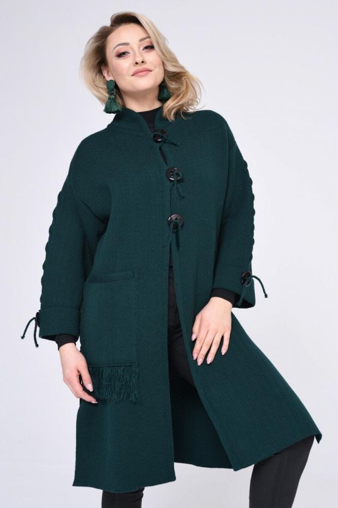 Palton model 140427 Vitesi verde