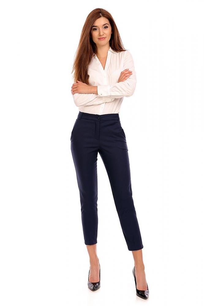 Pantaloni eleganti Model 118959 Cabba Bleumarin