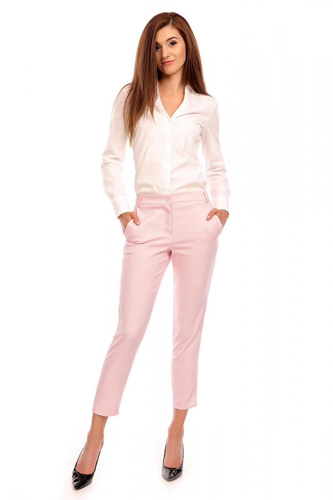 Pantaloni eleganti Model 118962 Cabba roz