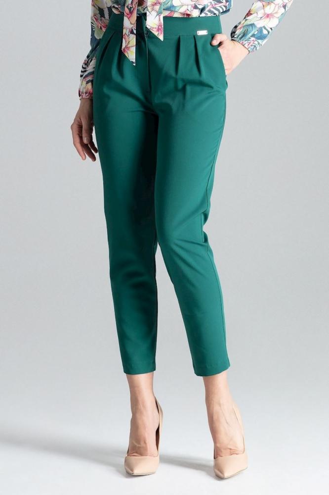 Pantaloni lungi office Model 130968 Lenitif verde