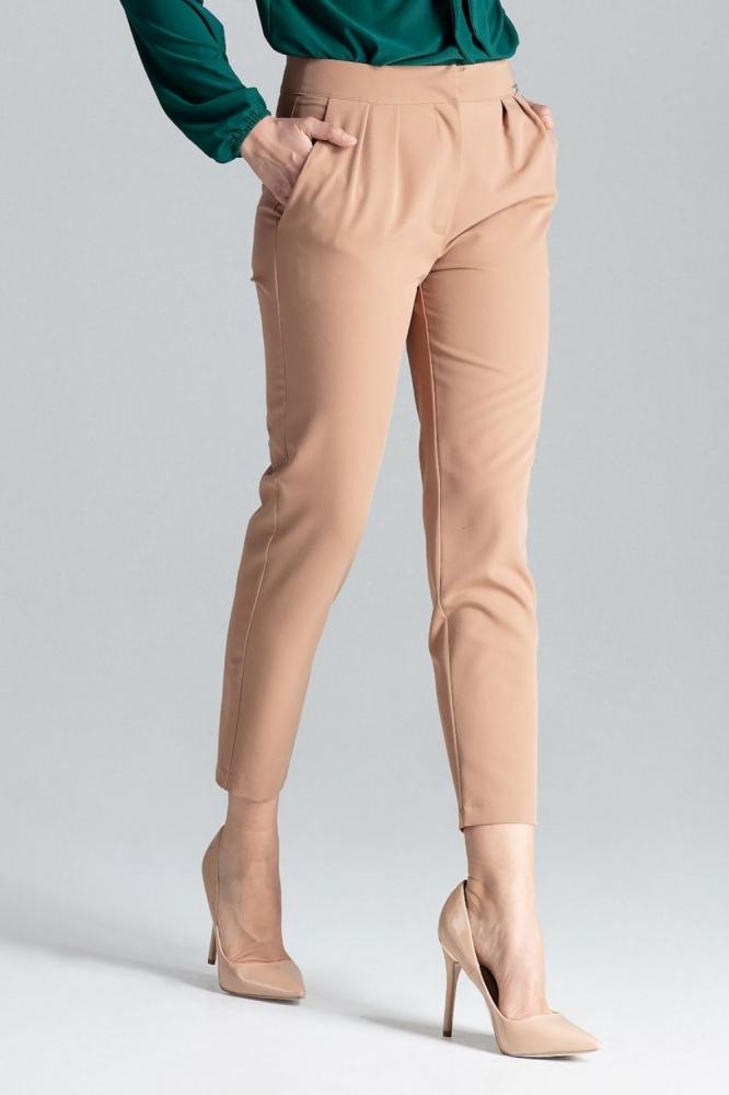 Pantaloni lungi office Model 130969 Lenitif maro