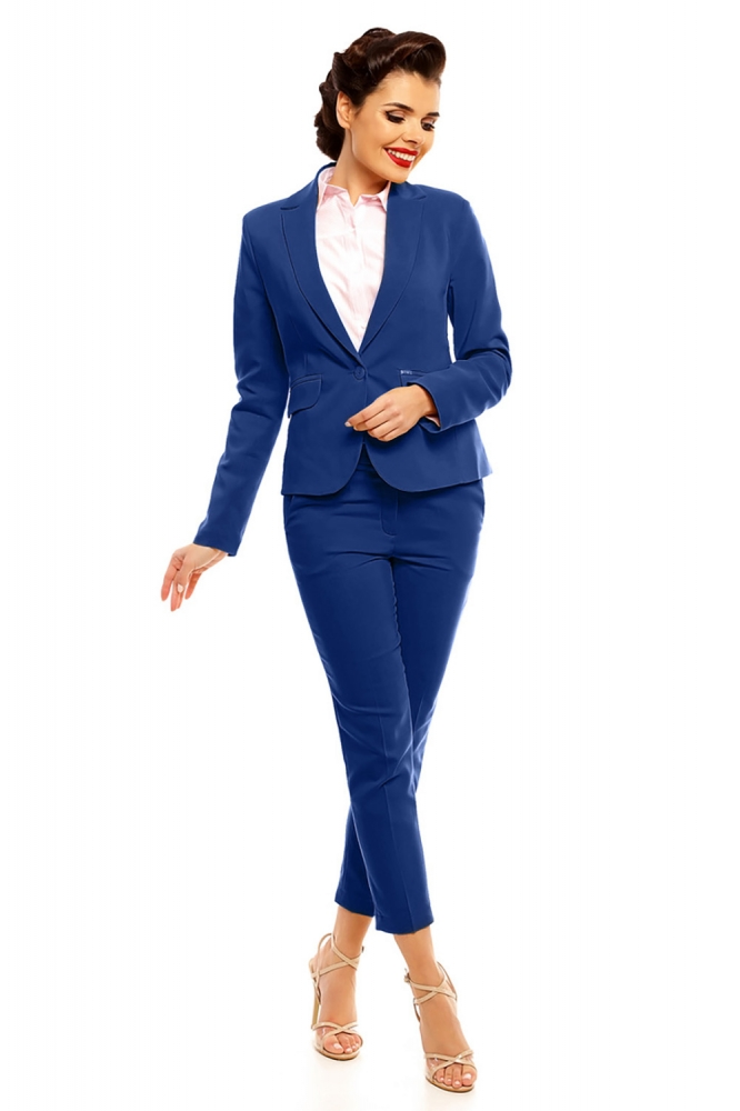 Pantaloni eleganti Model 142418 Cabba Bleumarin