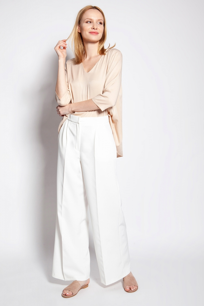 Pantaloni de dama model 151148 Lanti bej