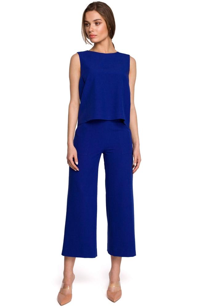 Pantaloni de dama model 154106 Style albastru
