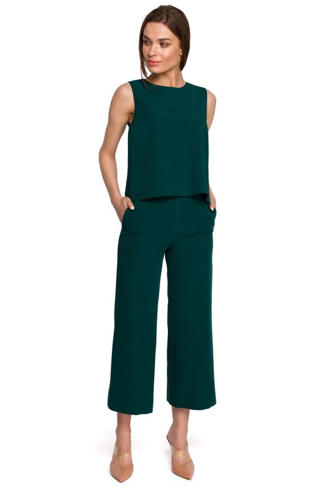 Pantaloni de dama model 154107 Style verde