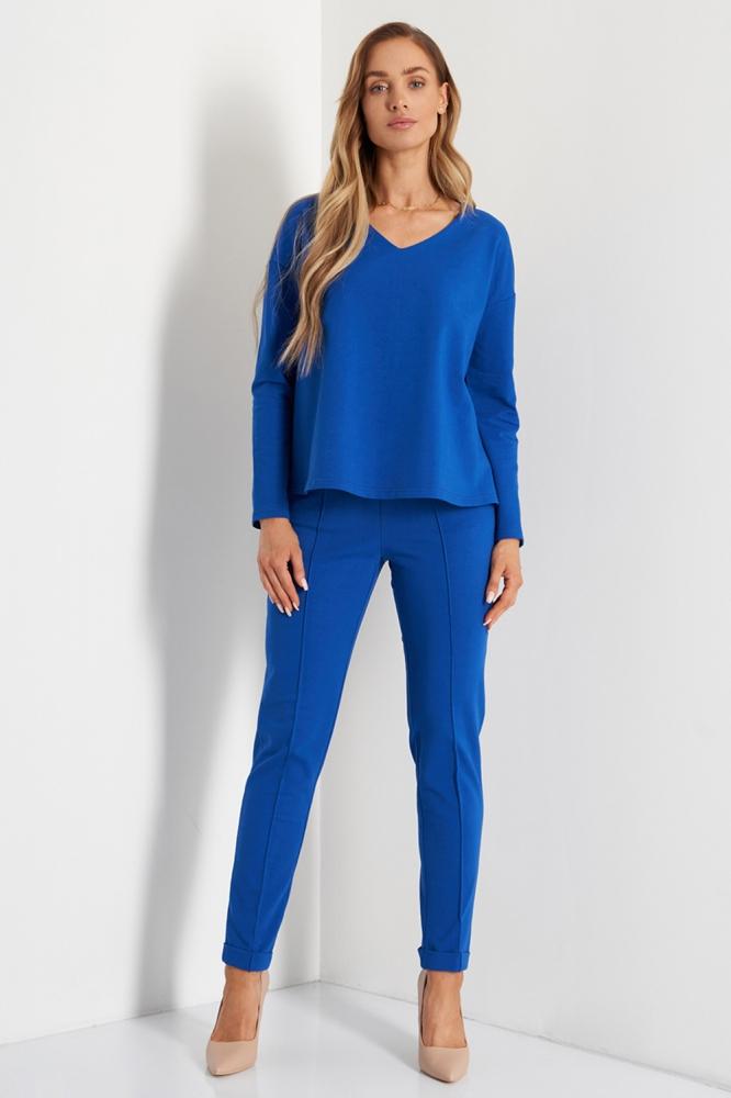 Pantaloni de trening model 158043 Lemoniade albastru