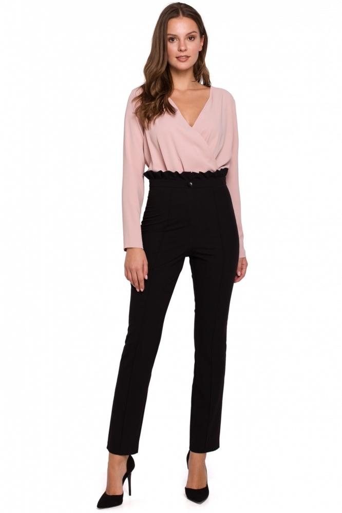 Pantaloni eleganti talie inalta Model 138524 Makover negru