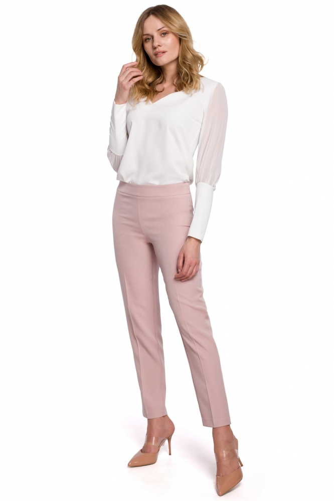 Pantaloni eleganti Model 142974 Makover roz