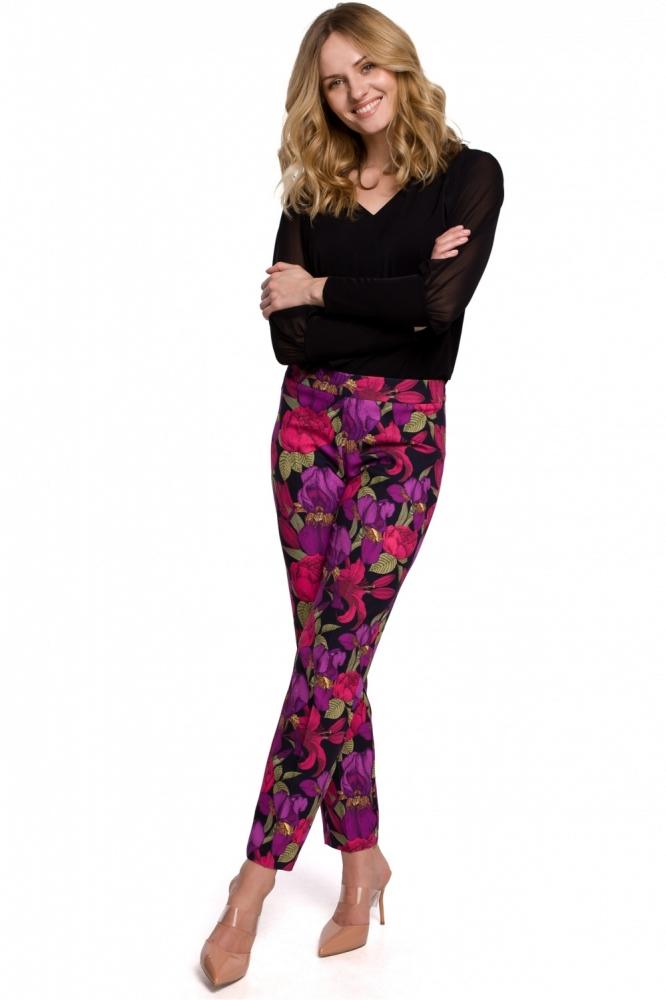 Pantaloni imprimeu flori Model 142977 Makover multicolor