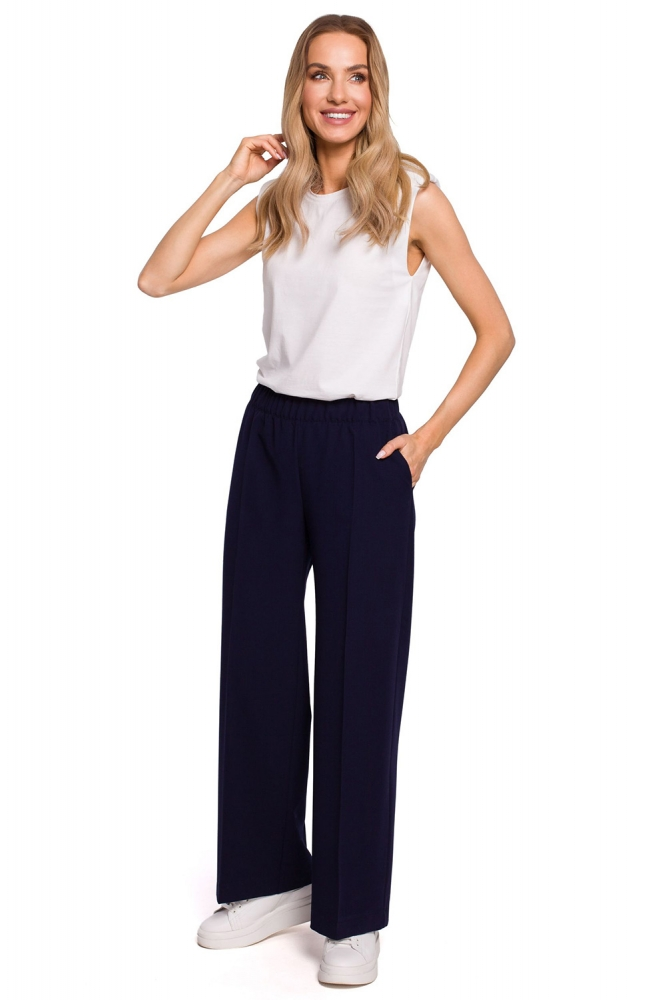 Pantaloni lungi model 152652 Moe Bleumarin