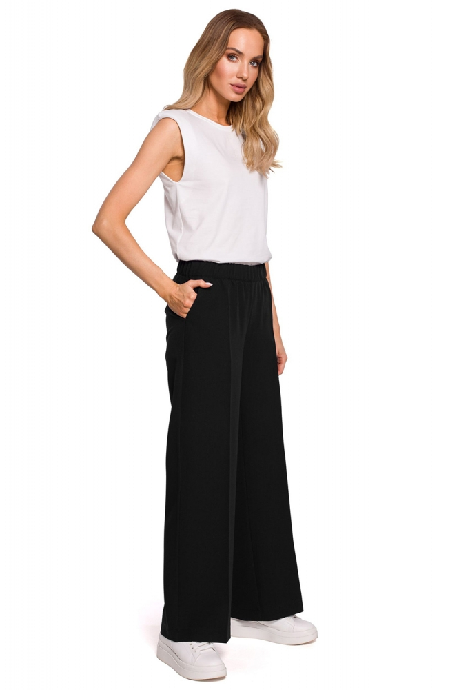 Pantaloni lungi model 152653 Moe negru
