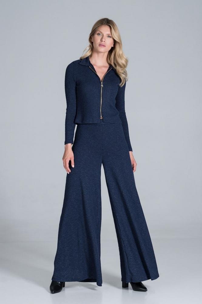Pantaloni evazati Model 157539 Figl Bleumarin