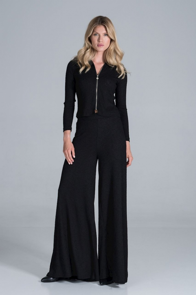 Pantaloni evazati Model 157540 Figl negru