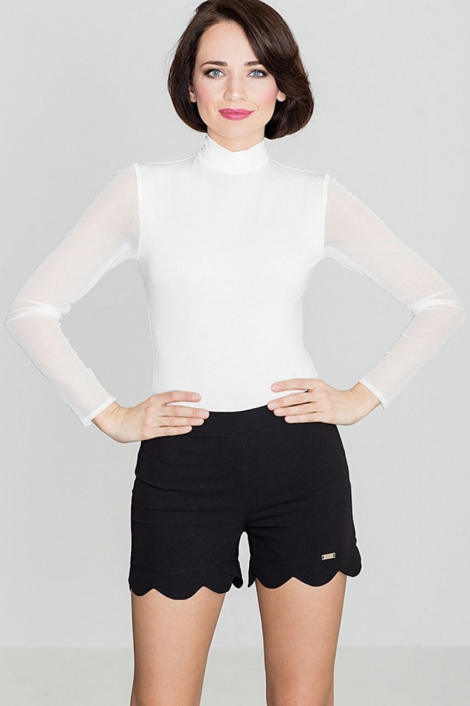 Pantaloni scurti eleganti Model 119316 Lenitif negru