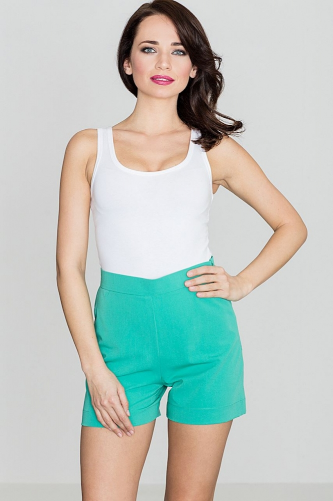 Pantaloni scurti eleganti Model 119383 Lenitif verde