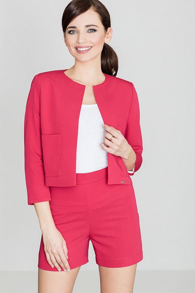 Pantaloni scurti eleganti Model 119385 Lenitif rosu