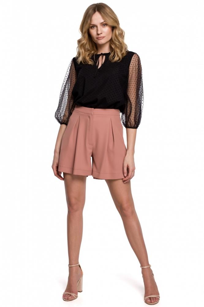 Pantaloni scurti eleganti Model 142986 Makover roz