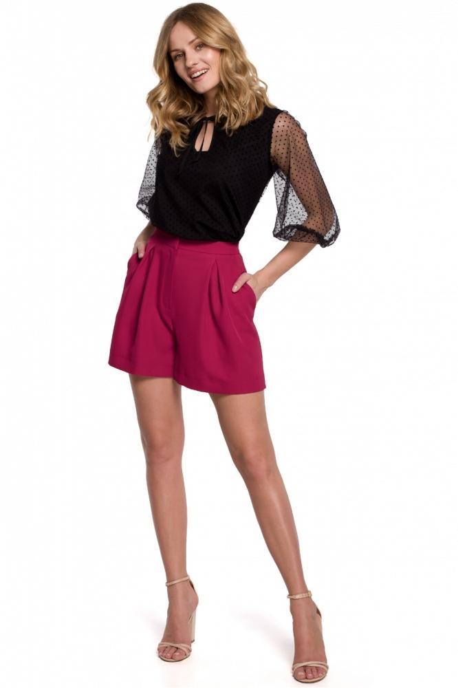 Pantaloni scurti eleganti Model 142987 Makover rosu