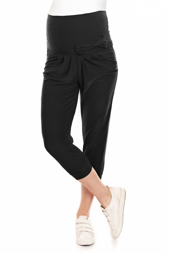Pantaloni talie inalta elastici gravide Model 132612 PeeKaBoo negru