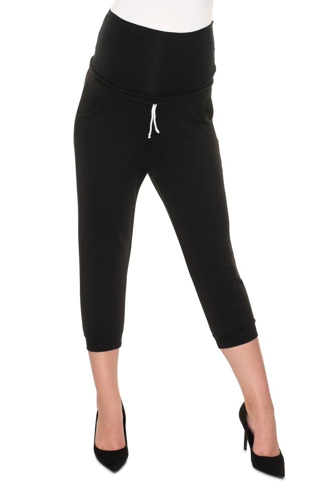 Pantaloni sub genunchi model 157820 PeeKaBoo negru