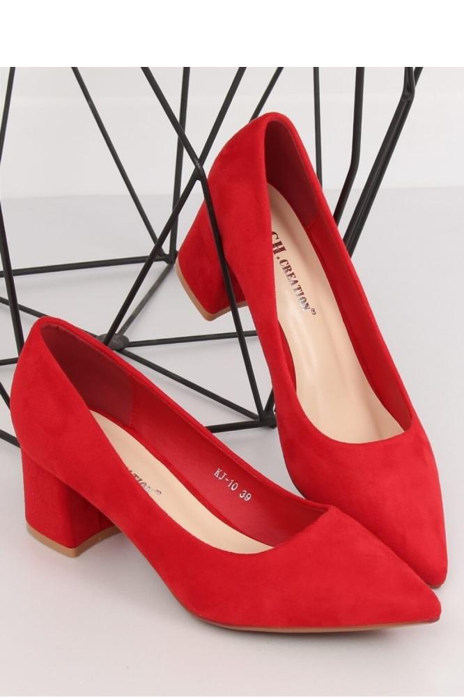 Pantofi cu toc simplu model 134129 Inello rosu