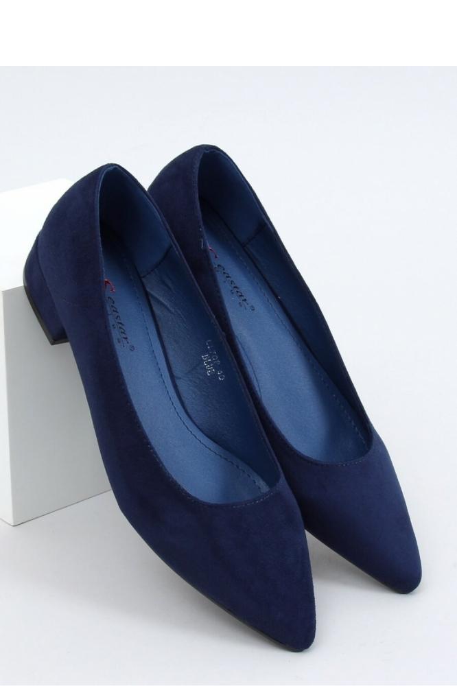 Pantofi cu toc simplu model 153392 Inello Bleumarin