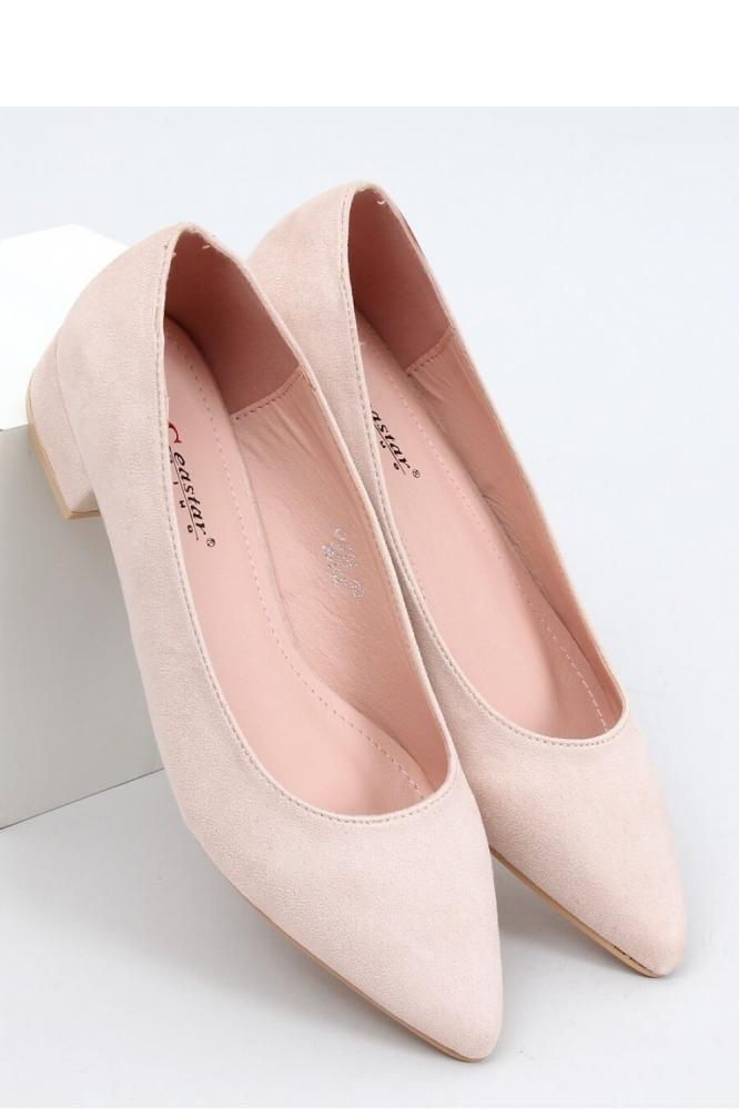 Pantofi cu toc simplu model 153394 Inello bej