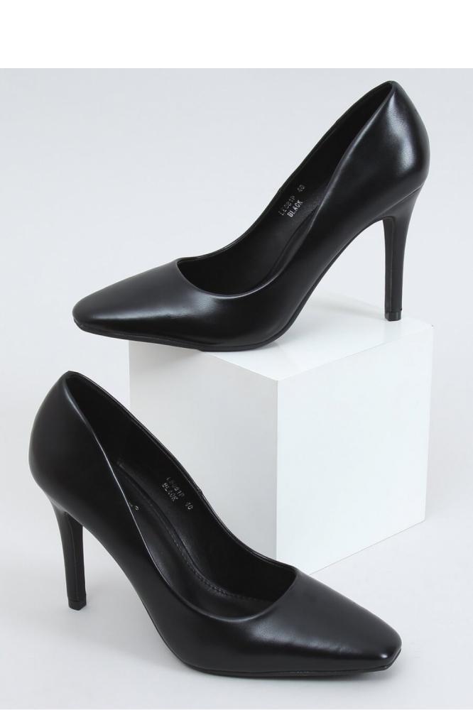 Pantofi cu toc subtire (stiletto) model 153360 Inello negru