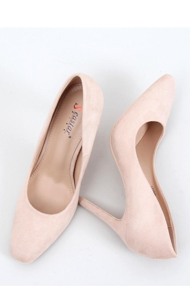 Pantofi cu toc subtire (stiletto) model 153397 Inello bej