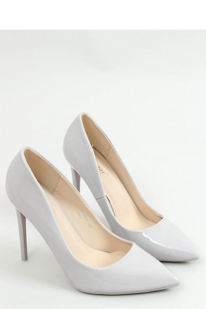 Pantofi cu toc subtire (stiletto) model 155192 Inello gri