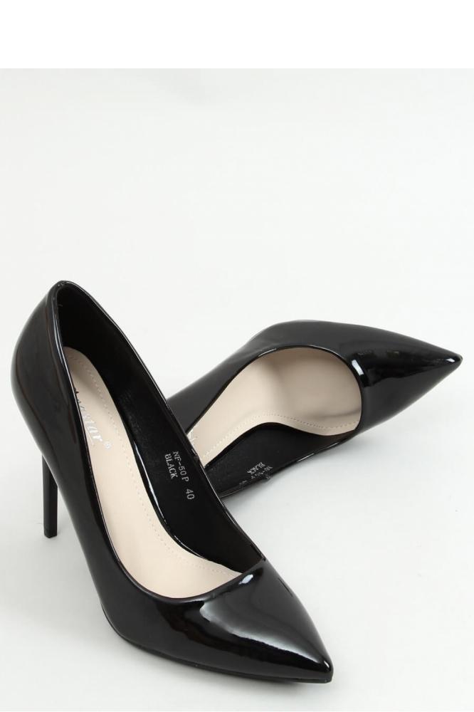 Pantofi cu toc subtire (stiletto) model 155194 Inello negru