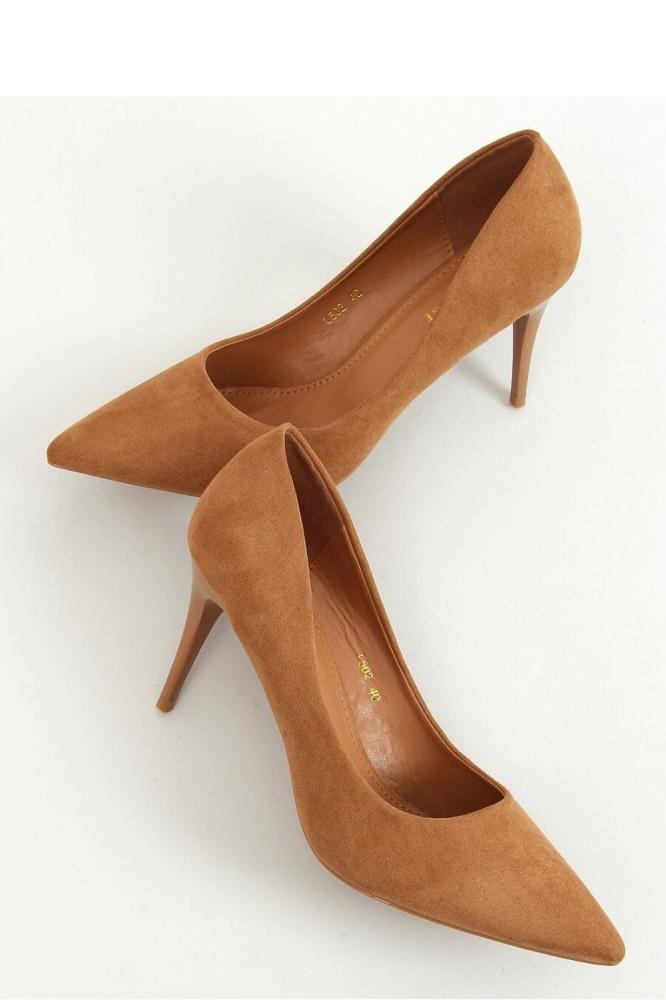 Pantofi cu toc subtire (stiletto) model 157233 Inello maro