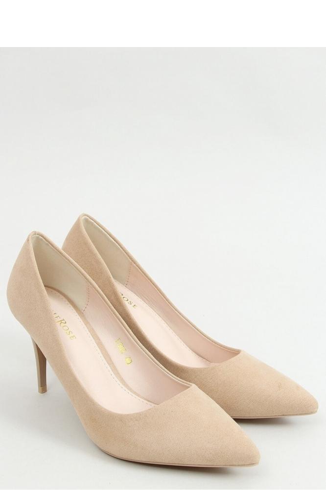 Pantofi cu toc mic eleganti Model 157235 Inello bej