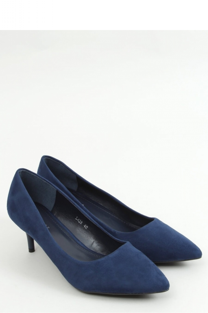 Pantofi cu toc mic eleganti Model 157236 Inello Bleumarin